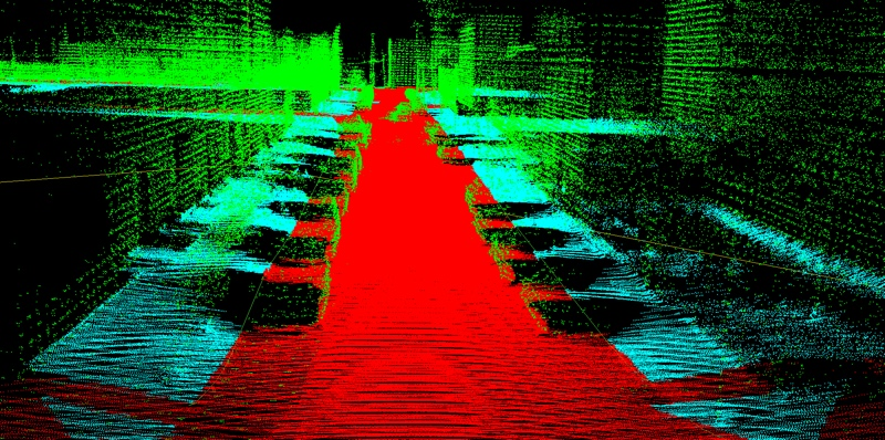 Point cloud of a road.