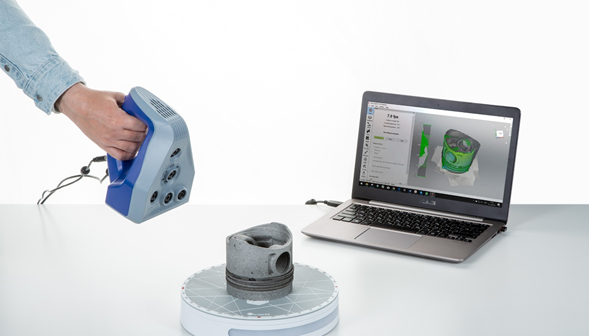 Artec smart turntable streamlines 3D scans of small objects
